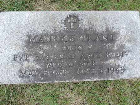TRANT, MAURICE - Franklin County, Ohio | MAURICE TRANT - Ohio Gravestone Photos