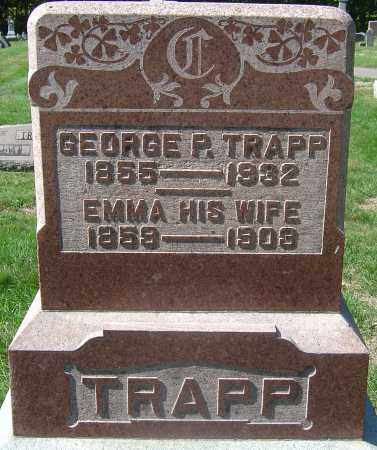TRAPP, EMMA - Franklin County, Ohio | EMMA TRAPP - Ohio Gravestone Photos