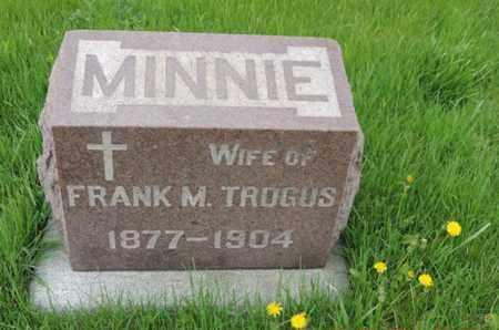 TROGUS, MINNIE - Franklin County, Ohio | MINNIE TROGUS - Ohio Gravestone Photos