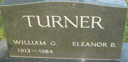 TURNER, WILLIAM G - Franklin County, Ohio | WILLIAM G TURNER - Ohio Gravestone Photos