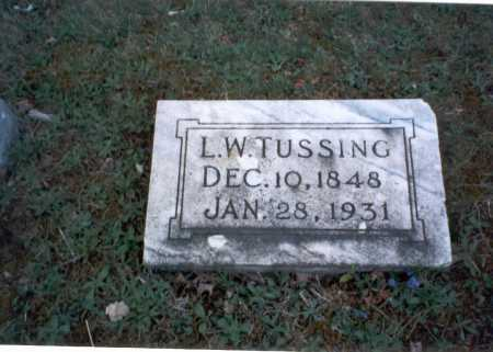 TUSSING, L. W. - Franklin County, Ohio | L. W. TUSSING - Ohio Gravestone Photos
