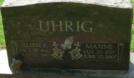 UHRIG, MAXINE - Franklin County, Ohio | MAXINE UHRIG - Ohio Gravestone Photos