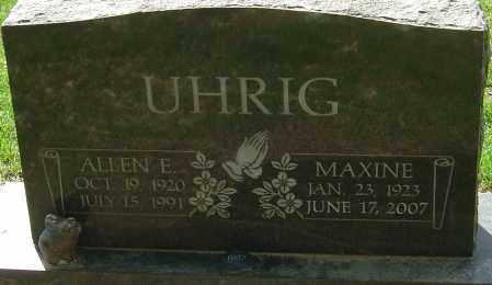 UHRIG, ALLEN E - Franklin County, Ohio | ALLEN E UHRIG - Ohio Gravestone Photos