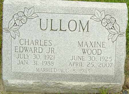 WOOD ULLOM, MAXINE - Franklin County, Ohio | MAXINE WOOD ULLOM - Ohio Gravestone Photos