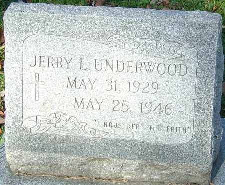 UNDERWOOD, JERRY L - Franklin County, Ohio | JERRY L UNDERWOOD - Ohio Gravestone Photos