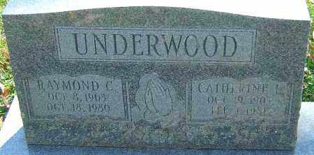 UNDERWOOD, CATHERINE L - Franklin County, Ohio | CATHERINE L UNDERWOOD - Ohio Gravestone Photos