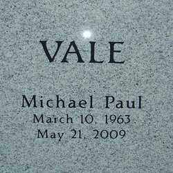 VALE, MICHAEL PAUL - Franklin County, Ohio | MICHAEL PAUL VALE - Ohio Gravestone Photos