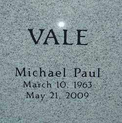 VALE, MICHAEL PAUL - Franklin County, Ohio | MICHAEL PAUL VALE - Ohio Gravestone Photos