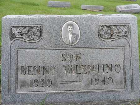 VALENTINO, BENNY - Franklin County, Ohio | BENNY VALENTINO - Ohio Gravestone Photos