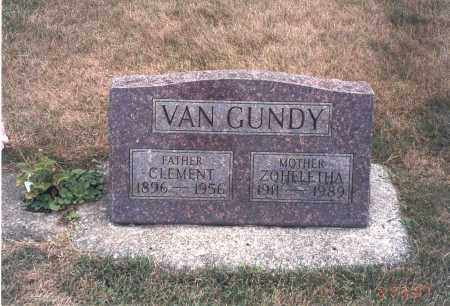 HAMLER VAN GUNDY, ZOHELETHA - Franklin County, Ohio | ZOHELETHA HAMLER VAN GUNDY - Ohio Gravestone Photos