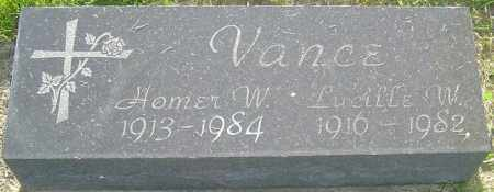 VANCE, LUCILLE W - Franklin County, Ohio | LUCILLE W VANCE - Ohio Gravestone Photos