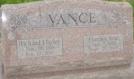 VANCE, HARRIET JUNE - Franklin County, Ohio | HARRIET JUNE VANCE - Ohio Gravestone Photos