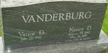 VANDERBURG, NANCY D - Franklin County, Ohio | NANCY D VANDERBURG - Ohio Gravestone Photos