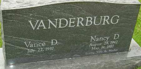 VANDERBURG, NANCY D - Franklin County, Ohio | NANCY D VANDERBURG - Ohio Gravestone Photos