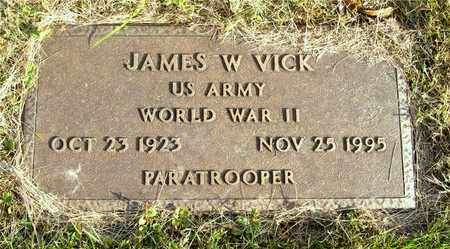 VICK, JAMES W. - Franklin County, Ohio | JAMES W. VICK - Ohio Gravestone Photos