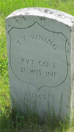 VINING, T. F. - Franklin County, Ohio | T. F. VINING - Ohio Gravestone Photos