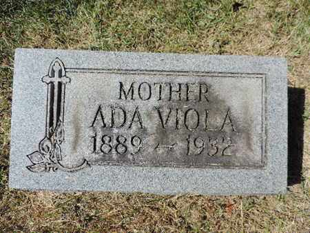 VIOLA, ADA - Franklin County, Ohio | ADA VIOLA - Ohio Gravestone Photos