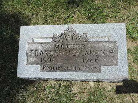VLACANCICH, FANCES - Franklin County, Ohio | FANCES VLACANCICH - Ohio Gravestone Photos