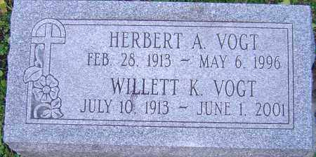 VOGT, HERBERT - Franklin County, Ohio | HERBERT VOGT - Ohio Gravestone Photos