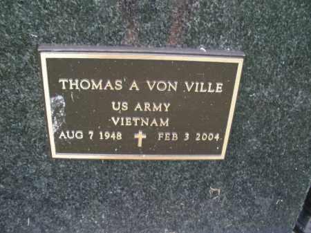 VON VILLE, THOMAS A. - Franklin County, Ohio | THOMAS A. VON VILLE - Ohio Gravestone Photos