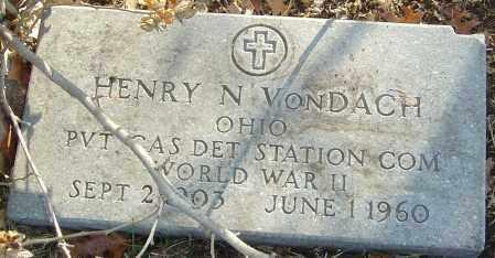 VONDACH, HENRY N - Franklin County, Ohio | HENRY N VONDACH - Ohio Gravestone Photos