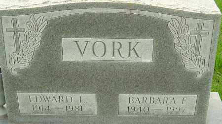 VORK, EDWARD L - Franklin County, Ohio | EDWARD L VORK - Ohio Gravestone Photos