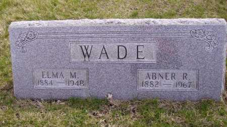 WADE, ABNER R. - Franklin County, Ohio | ABNER R. WADE - Ohio Gravestone Photos