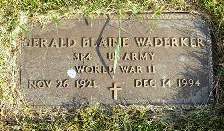 WADERKER, GERALD BLAINE - Franklin County, Ohio | GERALD BLAINE WADERKER - Ohio Gravestone Photos