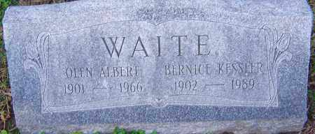 WAITE, BERNICE - Franklin County, Ohio | BERNICE WAITE - Ohio Gravestone Photos