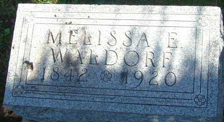 WALDORF, MELISSA E - Franklin County, Ohio | MELISSA E WALDORF - Ohio Gravestone Photos