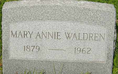 WALDREN, MARY ANNIE - Franklin County, Ohio | MARY ANNIE WALDREN - Ohio Gravestone Photos