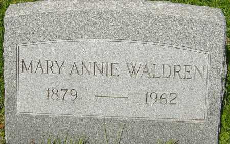 WALDREN, MARY ANNIE - Franklin County, Ohio   MARY ANNIE WALDREN - Ohio Gravestone Photos