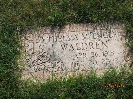 ENGLE WALDREN, THELMA MAE - Franklin County, Ohio | THELMA MAE ENGLE WALDREN - Ohio Gravestone Photos