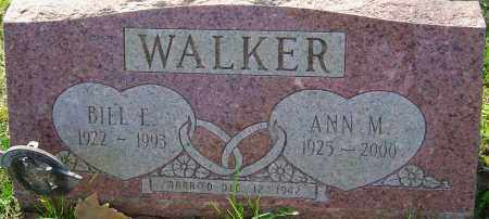 WALKER, BILL E - Franklin County, Ohio | BILL E WALKER - Ohio Gravestone Photos
