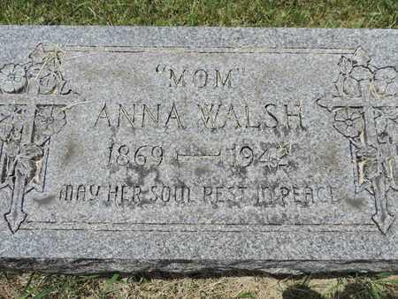 WALSH, ANNA - Franklin County, Ohio | ANNA WALSH - Ohio Gravestone Photos