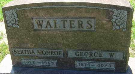 WALTERS, GEORGE W - Franklin County, Ohio | GEORGE W WALTERS - Ohio Gravestone Photos