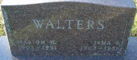 WALTERS, MARION H - Franklin County, Ohio | MARION H WALTERS - Ohio Gravestone Photos