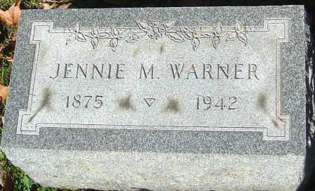 WARNER, JENNIE M - Franklin County, Ohio | JENNIE M WARNER - Ohio Gravestone Photos