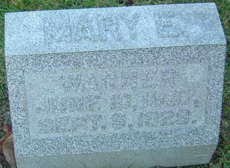 WARNER, MARY E - Franklin County, Ohio | MARY E WARNER - Ohio Gravestone Photos
