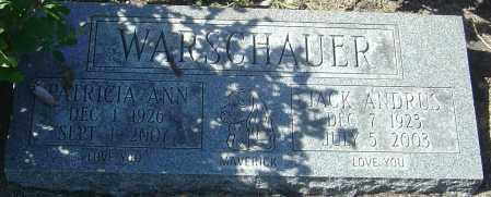 WARSCHAUER, JACK ANDRUS - Franklin County, Ohio | JACK ANDRUS WARSCHAUER - Ohio Gravestone Photos