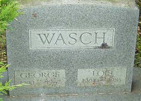 WASCH, LOIS - Franklin County, Ohio | LOIS WASCH - Ohio Gravestone Photos