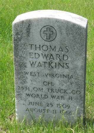 WATKINS, THOMAS EDWARD - Franklin County, Ohio | THOMAS EDWARD WATKINS - Ohio Gravestone Photos