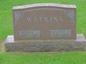 WATKINS, MARTHA A - Franklin County, Ohio | MARTHA A WATKINS - Ohio Gravestone Photos
