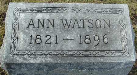 WATSON, ANN - Franklin County, Ohio | ANN WATSON - Ohio Gravestone Photos