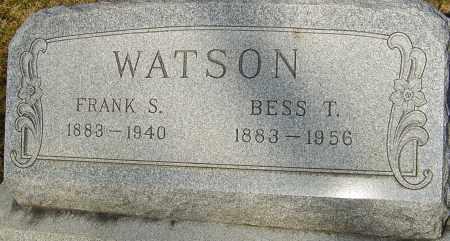 WATSON, FRANK S - Franklin County, Ohio | FRANK S WATSON - Ohio Gravestone Photos