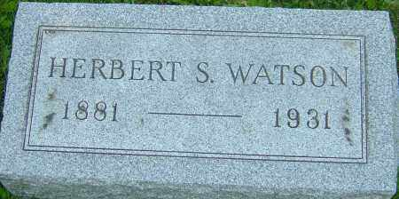 WATSON, HERBERT S - Franklin County, Ohio | HERBERT S WATSON - Ohio Gravestone Photos