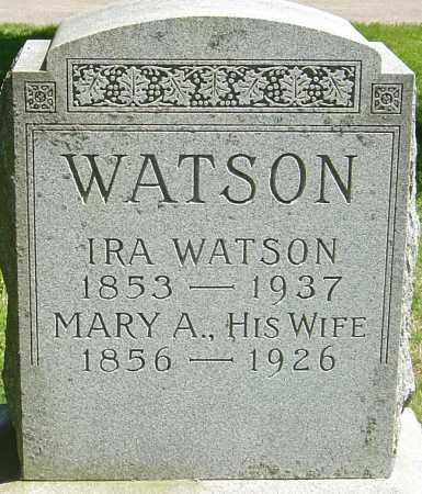 WATSON, MARY A - Franklin County, Ohio | MARY A WATSON - Ohio Gravestone Photos