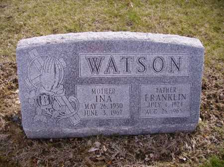 WATSON, FRANKLIN - Franklin County, Ohio | FRANKLIN WATSON - Ohio Gravestone Photos