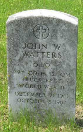 WATTERS, JOHN W. - Franklin County, Ohio | JOHN W. WATTERS - Ohio Gravestone Photos