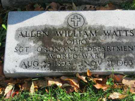 WATTS, ALLEN WILLIAM - Franklin County, Ohio | ALLEN WILLIAM WATTS - Ohio Gravestone Photos